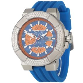 "deLorean Herren-Automatikuhr ""Shocker"" blau-orange"
