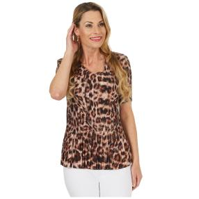 Jeannie Plissee-Shirt 'Amy' multicolor