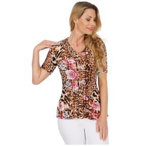 Jeannie Plissee-Shirt 'Alina' multicolor