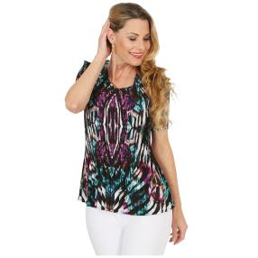 Jeannie Plissee-Shirt 'Amelie' multicolor