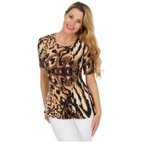 Jeannie Plissee-Shirt 'Aurelia' multicolor