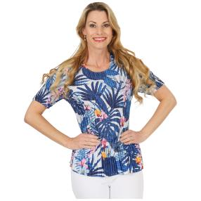 Jeannie Plissee-Shirt 'Abby' multicolor