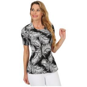 Jeannie Plissee-Shirt 'Allegra' schwarz/weiß