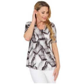 Jeannie Plissee-Shirt 'Audrey' schwarz/weiß
