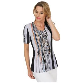 Jeannie Plissee-Shirt 'Amanda' multicolor