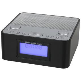 DAB+/UKW Uhrenradio, schwarz