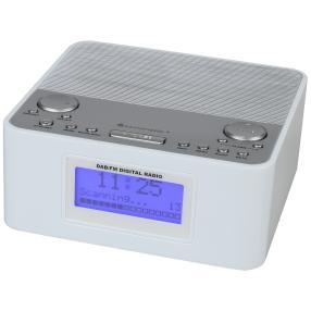 DAB+/UKW Uhrenradio, weiß