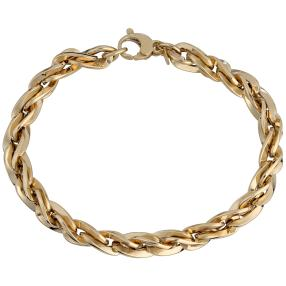 Spiga Armband 585 Gelbgold, ca. 19 cm