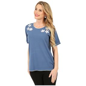 IMAGINI Feinstrick-Pullover 'Paola' blau