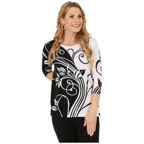 IMAGINI Feinstrick-Pullover 'Milazzo' schwarz/weiß