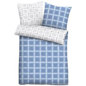 CASTELL Satin-Bettwäsche 2-teilig, blau/grau
