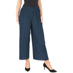 Weite Plissee-Sommerhose 'Palacio' jeansblau