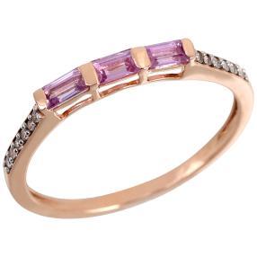 Ring 375 Roségold Saphir pink