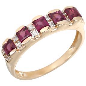 Ring 375 Gelbgold Rhodolith