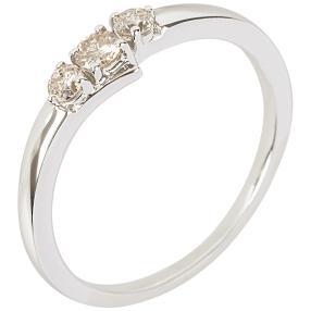 Ring 585 Weißgold Brillanten