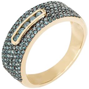 Ring 585 Gelbgold Diamant, poliert