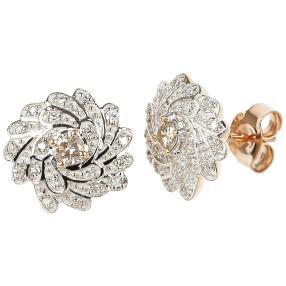 Ohrstecker 585 Roségold Diamant