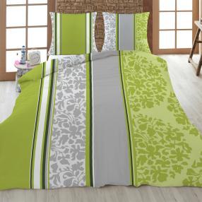 AllSeasons Bettwäsche 2-teilig, grün/grau