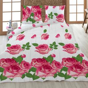 Rose Dream Bettwäsche 2-teilig, weiß/rot