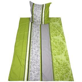 AllSeasons Bettwäsche 2-teilig, Streifen & Blätter