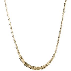 Heringbone-Collier 750 Gelbgold, ca. 45 cm