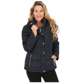Damen-Jacke 'Oslo' mit Webpelz gefüttert blau