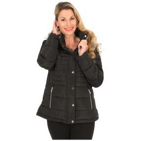 Damen-Jacke 'Oslo' mit Webpelz gefüttert schwarz