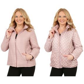 Damen-Wende-Stepp-Jacke 'Coccinelle' rosé/weiß