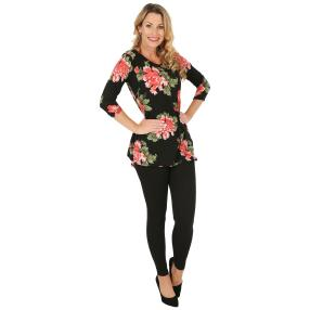2er Set Shirt & Leggings schwarz, 3/4-Arm