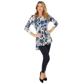 2er Set Shirt & Leggings dunkelblau, Blumenprint