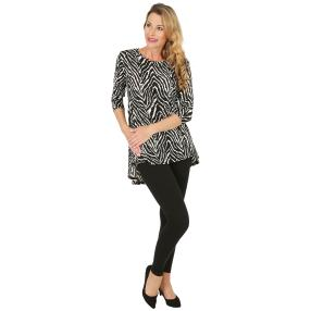 2er Set Shirt & Leggings schwarz/weiß