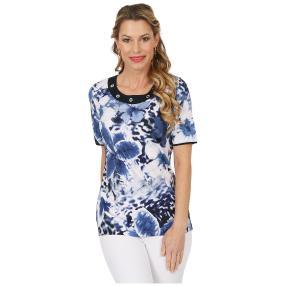 RÖSSLER SELECTION Damen-Shirt 'Bloom' blau
