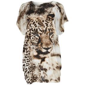 Damen-Longshirt 'Kitcat' mit Strass  multicolor