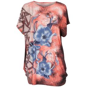 Damen-Longshirt 'Aloha' mit Strass  multicolor