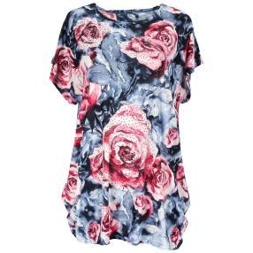 Damen-Longshirt 'Chic' mit Strass  multicolor