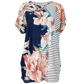 Damen-Longshirt 'Fashion' mit Strass  multicolor