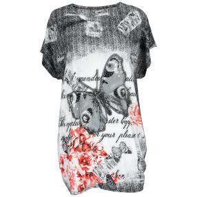 Damen-Longshirt 'Spring' mit Strass  multicolor