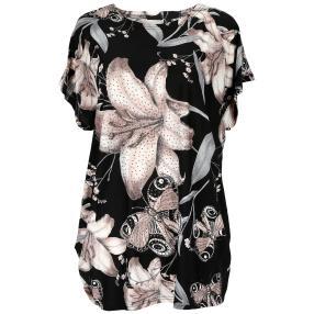 Damen-Longshirt 'Blossom' mit Strass  multicolor