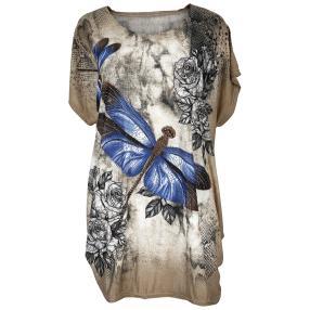 Damen-Longshirt 'Joy' mit Strass  multicolor