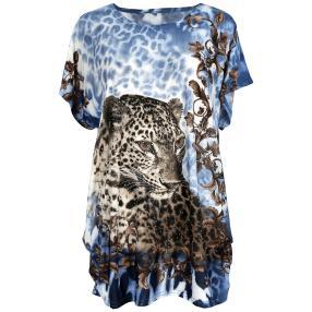 Damen-Longshirt 'Leopard' mit Strass Fantasieprint
