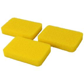 Silikonschwämme gelb, 3er Set im Polybeutel