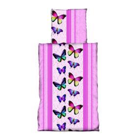 AllSeasons Bettwäsche 2tlg. pink, Schmetterling