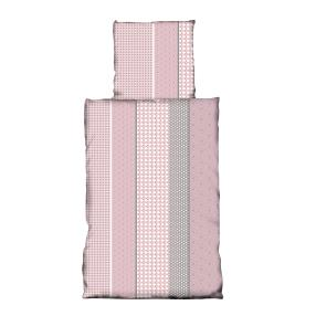 AllSeasons Bettwäsche 2-teilig, rosa-grau-weiß