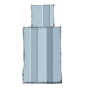 AllSeasons Bettwäsche 2-teilig, blau-grau-weiß