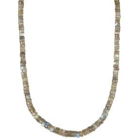 Collier Labradorit, ca. 45+5 cm