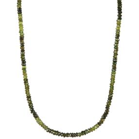 Collier Green Turmalin, ca. 45+5 cm