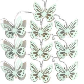 Lichterkette Schmetterling blau