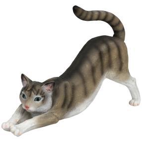Zauberwelt Deko-Katze streckend