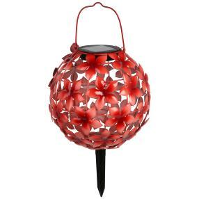 LED Solar-Leuchte Blumenball Osterglocken rot