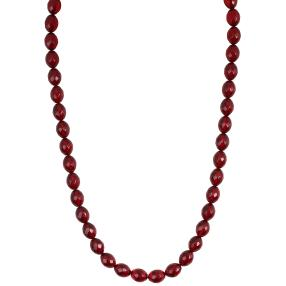 Collier Bernstein rubinrot, rhodiniert